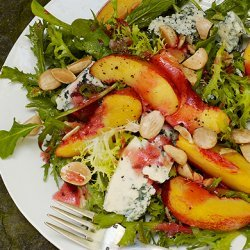 Nectarine and Blue Cheese Salad with Plum Vinaigrette recipe
