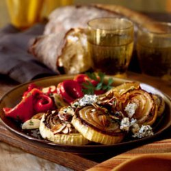 Roasted Sweet Onions with Cabrales Blue Cheese recipe
