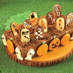 Ghosts And Goblins In The Graveyard Cake