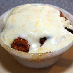Chocolate Chip Bread Pudding With Clontarf Cream S...