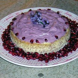 Pomegranate Topped Cheese Cake