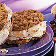 Oatmeal Cookie With Nectarine Ice Cream Sandwiches