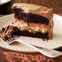 Crunchy Chocolate Peanut Butter Cake