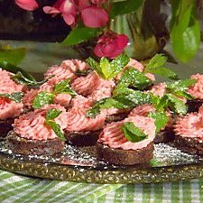 Fudge Brownie Bites With Cherry Mousse