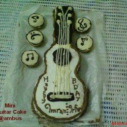 Music Lovers Birthday Mini Guitar Cake