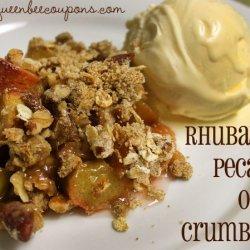Rhubarb Pecan Cake