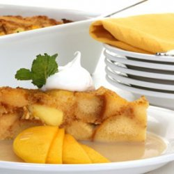Mango Bread Pudding And Sauce