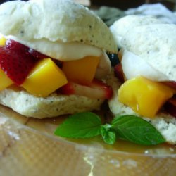 Summery Mango Lime Shortcakes