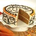 Spooky Pumpkin Spice Ghost Cake