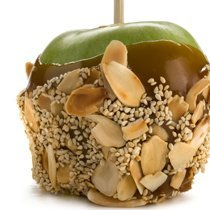 Marzipan Caramel Apples With Sesame N Almonds recipe