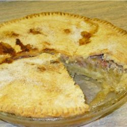 Amana Ox Yoke Inn Rhubarb Custard Pie