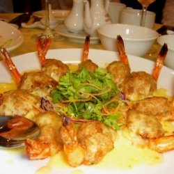 Baked Cheese Prawns recipe