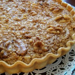 Walnut Maple Syrup Pie In English