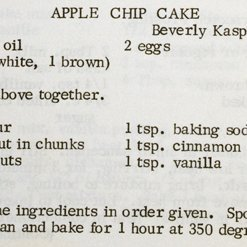 Apple Chip Cake