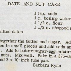 Date Amp Nut Cake