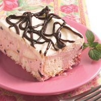 White Chocolate-cherry Chip Ice Cream Cake