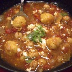 Zesty Bean Soup With Dumplings