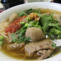 Stewed Beef Boat Noodle Soup  Gkuay Dtiow Lauy