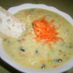 Enoki Mushroom Egg And Lemon Soup With Savory Bake...