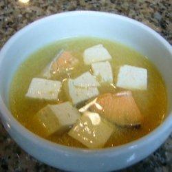 Salmon Miso Soup With Toufu recipe
