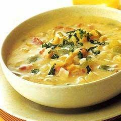 Fresh Corn Chowder With Ham Ala Leah recipe