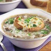 Philly Cheese Steak Onion Soup- For  2