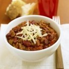 Pork And Beef And Black Bean  Chili