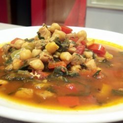 Smokey-spicy Spanish Soup With Dandelion Greens recipe