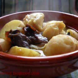 Perch Mushrooms And Potatoes Stew recipe