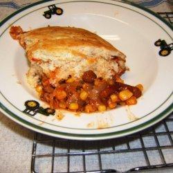 Chili-cornbread Pie recipe
