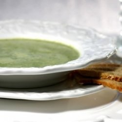 Watercress Soup And Parmesan Crisps
