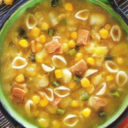 Corn Chowder With Conchigliette