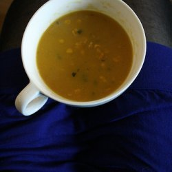 Pumpkin And Sweetcorn Soup