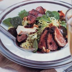 Duck Salad with Cheese Toasts and Port-Currant Sauce