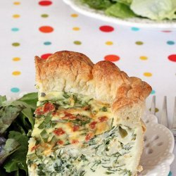 Spinach Puff Pastry Quiche