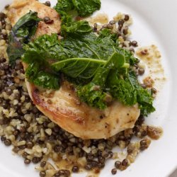 Chicken with Kale and Freekeh-Lentil Pilaf recipe