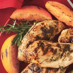 Stuffed Chicken Breasts with Rosemary-Orange Dressing recipe