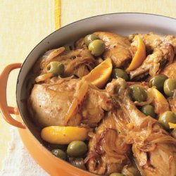 Moroccan Chicken with Green Olives and Lemon recipe