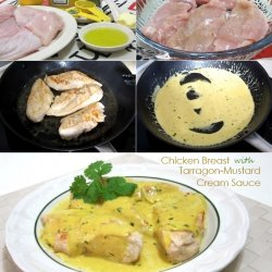Chicken with Mustard and Tarragon Cream Sauce