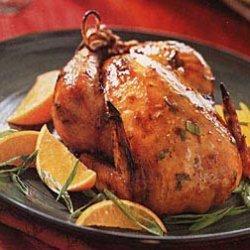 Roast Cornish Game Hens with Orange-Teriyaki Sauce