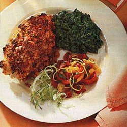Chicken Breasts with Sun-Dried Tomato and Garlic Crust