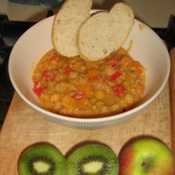 Delicious And Very Healthy Chick Pea Soup Garbanzo