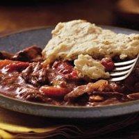 Slow Cooker Burgundy Stew With Herb Dumplings