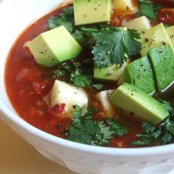 Tortilla Soup With Roasted Vegetables recipe