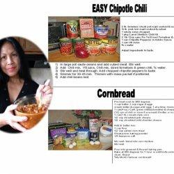 Easy Chipotle Chili And Cornbread recipe