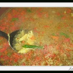 Red Pepper Asparagus And Wild Rice Soup