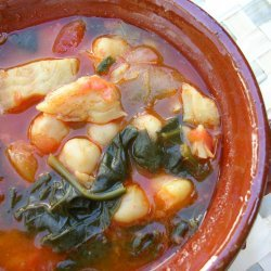 Chickpea Spinach And Cod Stew