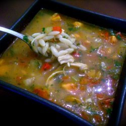 Chicken & Herb Orzo Soup With Veggies