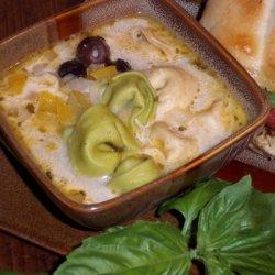 Tortellini Olive Soup