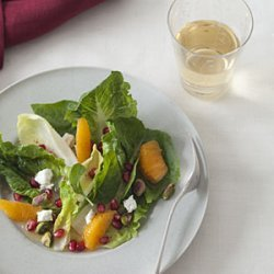 Winter Salad with Pomegranate, Clementine, and Goat Cheese recipe